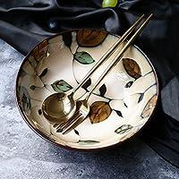 セラミック食器手描きの磁器のボウルラーメンボウルスープボウルライスボウルホームサラダボウル創造的なインスタントラーメンボウルフルーツボウル7.5インチ(直径20cm、高さ6cm)