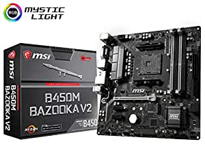 MSI Arsenal ゲーミング AMD Ryzen 1st & 2ND Gen AM4 M.2 USB 3 DDR4 DVI HDMI Micro-ATX マザーボード (B450M Bazooka V2)