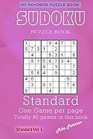Sudoku Puzzle - Standard - Vol 1 - My Favorite Puzzle Book (My Favorite Puzzle Book - Sudoku) (Volume 19) [並行輸入品]