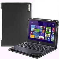 Broonel-プロファイルシリーズ-Acer Chromebook 514 14インチと互換性のあるラップトップケースブラックレザー