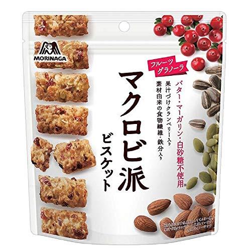 森永製菓 マクロビ派ビスケット<フルーツグラノーラ></p> 100g×5袋
