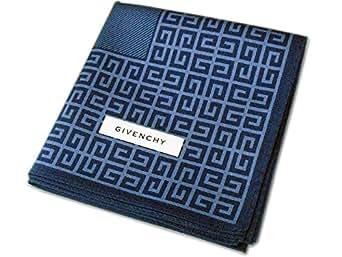 [5]GIVENCHY ジバンシィ ハンカチ メンズ ネイビー地 ロゴ柄 綿100% 日本製 50cm | ハンカチ | 服&ファッション小物 通販