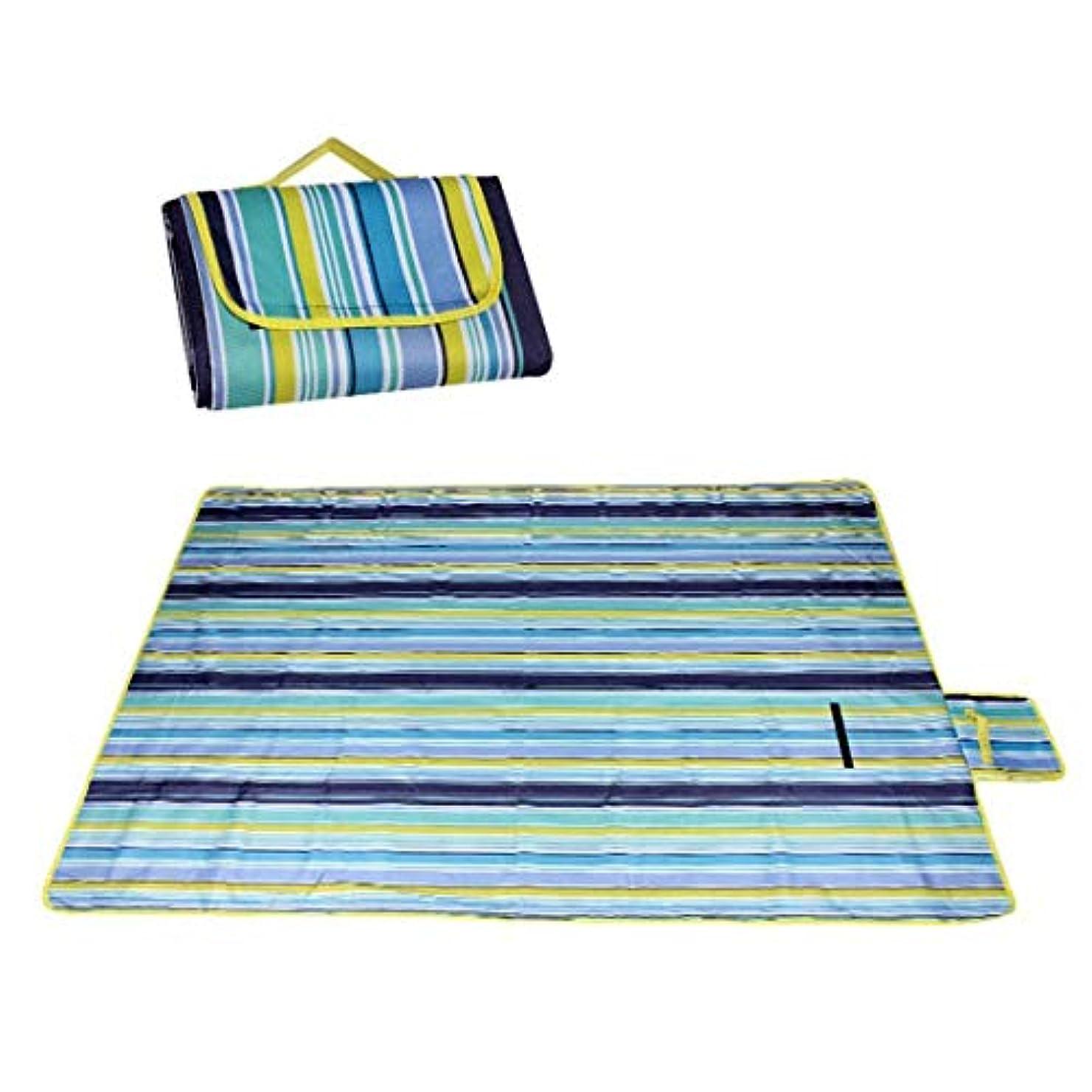 ペネロペチャンバー床Jhcpca 防湿パッドキャンプキャンプピクニックマットアルミ箔折りたたみ屋外マット (Color : 150*200 Oxford blue and green stripes)
