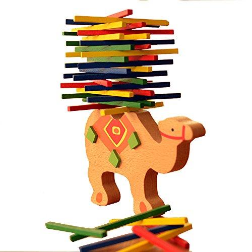 (ユニー) UNEEI ジェンガ バランスゲーム 積み上げゲーム ロバ 木製 ラクダ