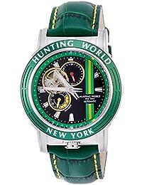 [ハンティングワールド]HUNTING WORLD 腕時計 アディショナルタイム 自動巻き レザー グリーン文字盤 5気圧防水 HW993GR メンズ 【正規輸入品】