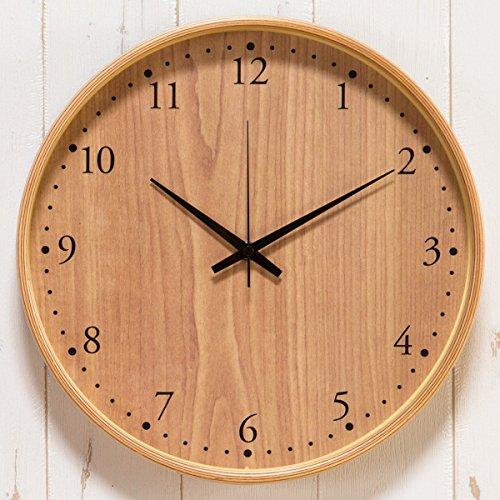 【正確な時間を刻む~シンプル&おしゃれな壁掛け時計】電波時計 正確 木目調デザイン 自動時刻修正 壁掛け (A2552) Aタイプ
