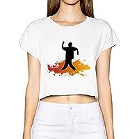 FreedomHip レディース ショート丈 ヘソ出し Poppin Dance ポッピンダンス ハッピー マイスタイル 天竺綿 カジュアルTシャツ