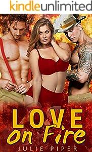 Love On Fire: BBW Menage Romance (English Edition)