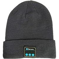 ステレオスピーカーとマイクを備えたBluetooth Beanie HatヘッドフォンWinter Knitted Wireless Musicヘッドセットキャップ