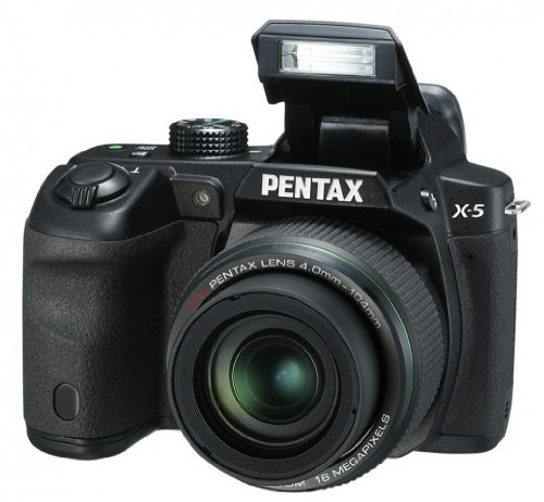 PENTAX X-5 クラシックブラック 1,600万画素 超広角-超望遠ズームレンズ 単3型電池仕様 デュアル手ぶれ補正 高速連写 X-5 CLASSIC BLACK 12764