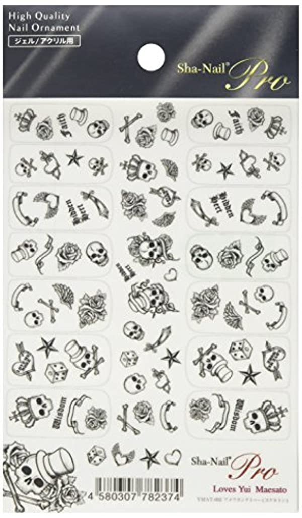 顎回転思い出写ネイルプロ ネイルシール アメリカンタトゥー スケルトン アート材