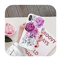 キラキラ大理石ケースiphone Xケース抽象少女蝶花柄ソフトカバーiphone XR XSマックス6 S 7 8プラス-2-For iPhone Xs Max