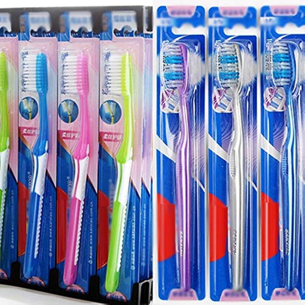ウォルターカニンガム子音子音歯ブラシ 30本のバルク歯ブラシ、ソフト毛歯ブラシ、歯科衛生の深いクリーニング - 使用可能なスタイルの3種類 HL (色 : A, サイズ : 30 packs)