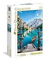 500ピース ジグソーパズル Clementoni イタリア ブラーイエス湖 Braies Lake 36×49cm 35039