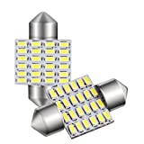 GOSMY T10×31mm LED 24連 2個セット ルームランプ 白 6500K 12-24V対応 一年品質保証