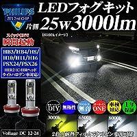 アドヴァンスジャパン LEDフォグランプ PHILIPS 3000ルーメン ハイビーム イエロー ホワイト バルブ形状:HB3