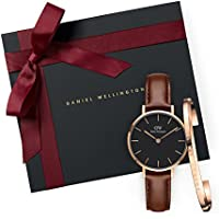 Gift Set Classic Petite St Mawes Black Watch  28mm+ Cuff RG Small