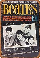 ウォールカラー 9 x 12 メタルサイン - 1964 Cleveland ビートルズ - ビンテージ風レプリカ