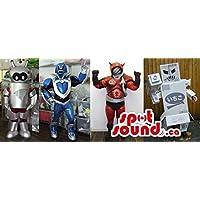 様々なデザインでシニーロボットマスコットSpotSoundカナダズ??の様々なグループ