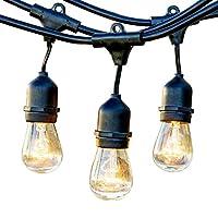 ストリングライトコード 防雨型 10M15灯 連結可能 電球 口金E26ソケット15個付 PSE認定メーカー正規品 延長ケーブル 連結ソケット イルミネーションライト (ランプ別売)