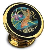 ホルダー 鯉 絵画 マグネット式車載ホルダー スマホホルダー ユニバーサル 360度回転 強力ゲル吸盤式 エアコン吹き出し口用 取り付け簡単/360度回転可能/片手操作/磁気吸引機能