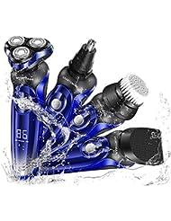 シェーバー 電気シェーバー 電動シェーバー メンズ 髭剃り 電動バリカン 一台四役 鼻毛カッター 洗顔ブラシ付き 回転式ロータ リシェーバー USB充電式 LEDディスプレイ IPX7防水 丸洗い可