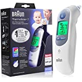 St. Lun Braun Thermoscan 7 IRT6520 Thermometer + Bonus ThermoScan Lens Filters Infrared Non-Contact Thermometer Digital LCD A