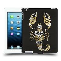 オフィシャル Cat Coquillette ブラック&ゴールド スコーピオン インセクト ハードバックケース Apple iPad 3 / iPad 4