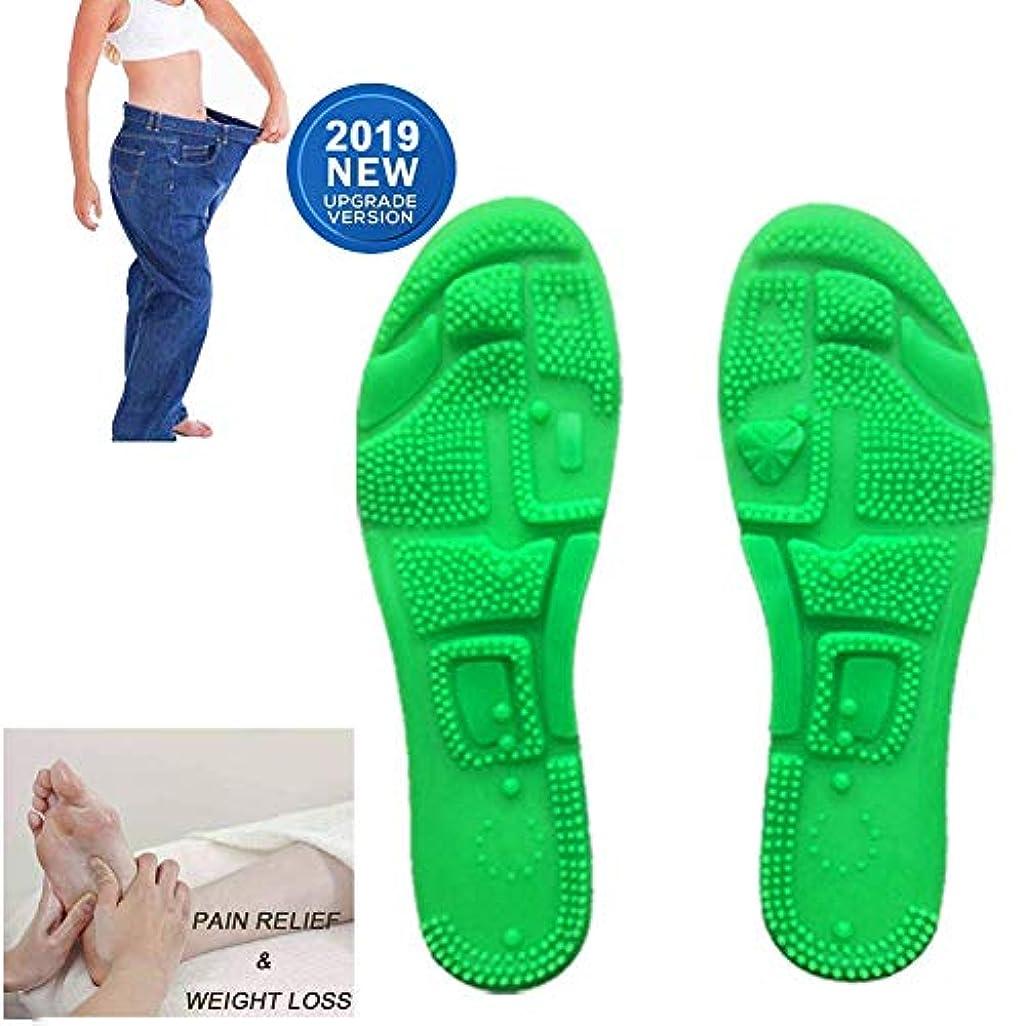 足の裏小石シリコーン男性と女性の磁石磁気スポーツ健康多機能マッサージインソール鍼治療のポイント,36