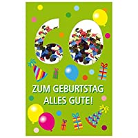 Susyカード40010274Greeting Card–Happy 60th Birthdayバルーン、17x 11x 0、4cm
