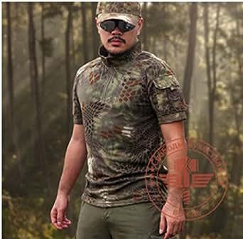【chiefscreate】【マンドレイクタイプ】タクティカルPOLOシャツ | タクティカルTシャツ | ベルクロポケット2ヶ所付 | おしゃれな迷彩シャツ (レプリカ)size:L [並行輸入品]