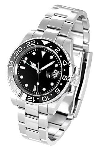 ノーロゴ 腕時計 自動巻き GMTマスターNL-002SB4ASG (並行輸入品)