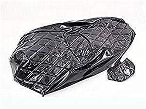 スズキ SKYWAVE スカイウェイブSS(CJ43A)張替用 黒エナメルシートカバー2点Set