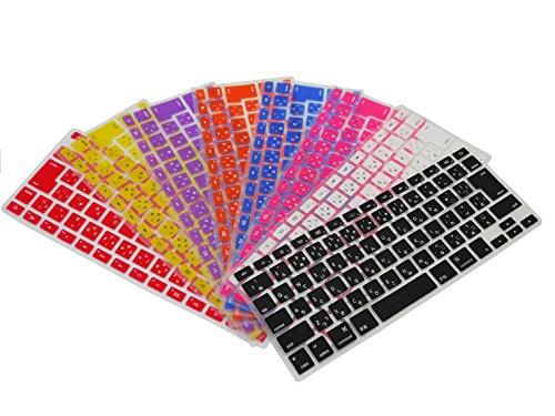 【キーボードカバー】 Apple MacBook Pro 13インチノートパソコン用 日本語キーボード保護カバー 防水 キズ防止 シリコンタイプ 9色 JIS配列 570-0002 (薔薇色)