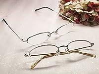 老眼鏡 携帯用ファッションシニアグラス おしゃれな男性用・女性用 78008A (+1.50, ゴールド)