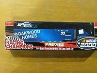 Joe Nemechek # 33Oakwood Homes Racing Team ' 00Hauler / Transporter w / Die Cast Stock Car