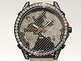 ジェイコブ JACOB&CO ファイブタイムゾーン JC-47SCFDCB ブラック/ワールドマップダイヤ文字盤 メンズ 腕時計 【中古】