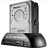 "SISUN® 2.5 "" / 3.5 "" IDE SATA HDD Docking Station +Card Reader Hub (Black)"