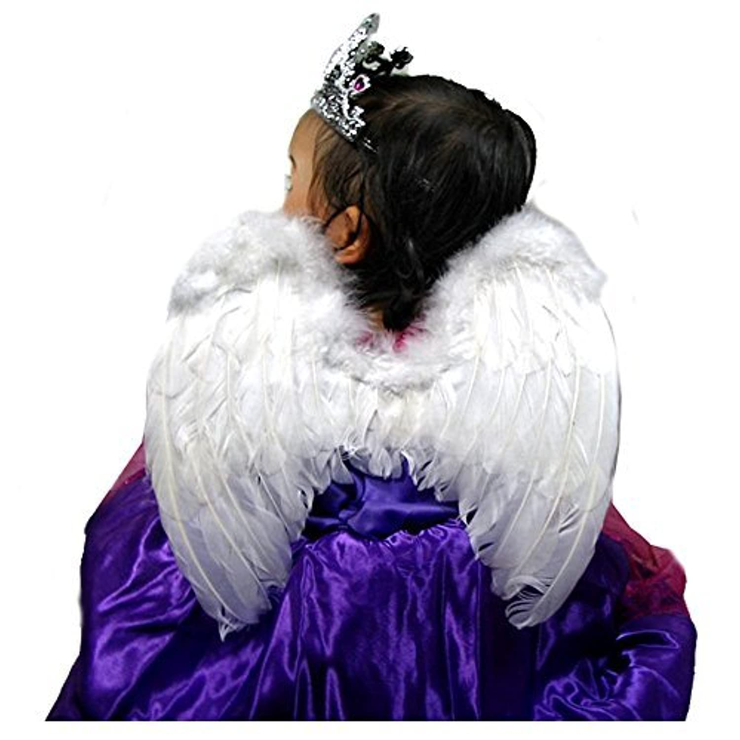 SACASUSA (TM) Small White Feather Angel Fairy Wings for kids, girls, or boys [並行輸入品]