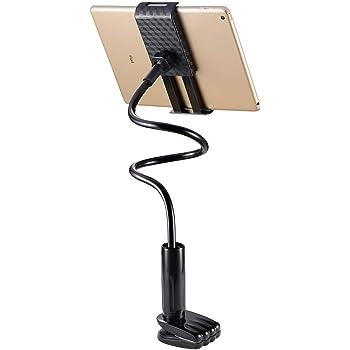 besthoby タブレット スタンド スマホ スタンド 改良版 根元強化 360°角度調節 抜群な安定感 4~10.6 インチ 挟める iPhone/iPad タブレット スマホ アームスタンド(ブラック)