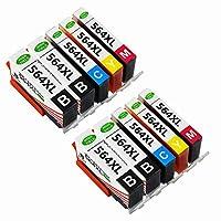 gc-printing 10色互換交換用プリンタインク564564X L高イールド、(4black、2シアン、マゼンタ2, 2yellow) で使用Photosmart 5520652055106510Officejet 4620Deskjet 3520プリンタ