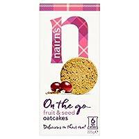 Nairnsフルーツ&種子オウトゥケイク225グラム (Nairn's) (x 4) - Nairns Fruit & Seed Oatcake 225g (Pack of 4)