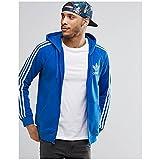 アディダスオリジナルス アウター パーカー&スウェット adidas Originals Trefoil Zip Hoodie AY77 Blue [並行輸入品]
