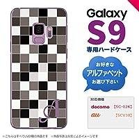 Galaxy S9 SC-02K SCV38(ギャラクシー エスナイン) SC-02K SCV38 スマホケース カバー ハードケース スクエア グレー イニシャル対応 G nk-s9-1016ini-g