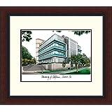 キャンパスイメージ」University of California , Irvine Legacy Alumnusフレーム入りリトグラフ印刷、8.5