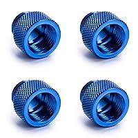 """Enzotech G1 / 4""""10 mmオス - メスフィッティング、ブルー、4パック"""
