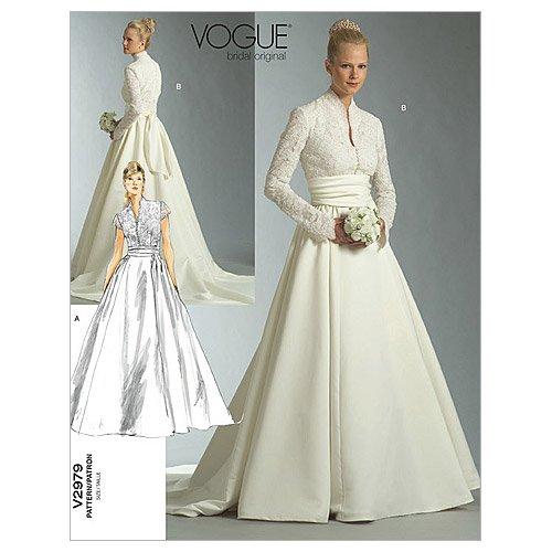 【voguepatterns】ウェディングドレス型紙 サイズ:US6-8-10