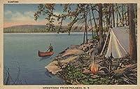 Pulaski、NYのビューカヌー、キャンプ、テント、湖 36 x 54 Giclee Print LANT-6160-36x54