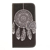 LG X5 ケース Y!mobile Android One X5 ケース [KAIDON] [81#] 良質PUレザー マグネット開閉 カード収納 手帳型ケース カバー (パターン 03)