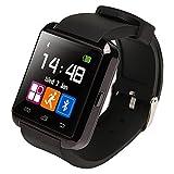 Ruichenxi Bluetooth smart watch U8 スマート ウォッチ 1.44インチ 超薄型フルタッチ ウォッチ 多機能 時計 健康 for Sony HTC Samsung ISO (Black)